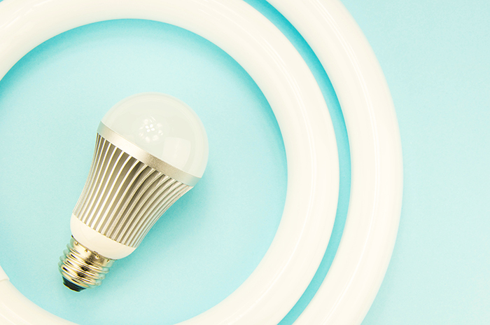 電球と蛍光灯